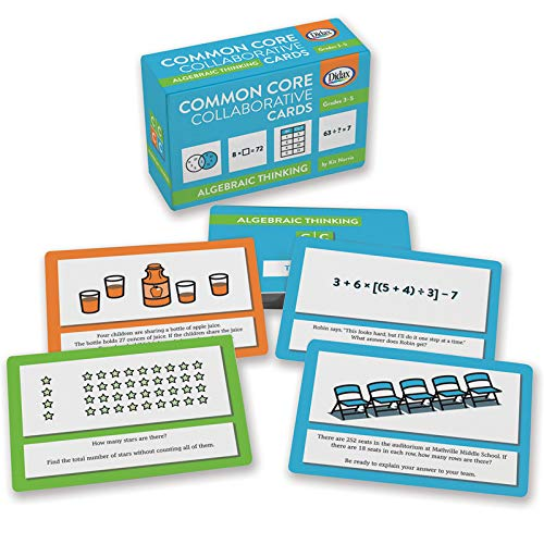 Didax Educational Resources Algebra Common Core Collaborative Card - Game Algebra