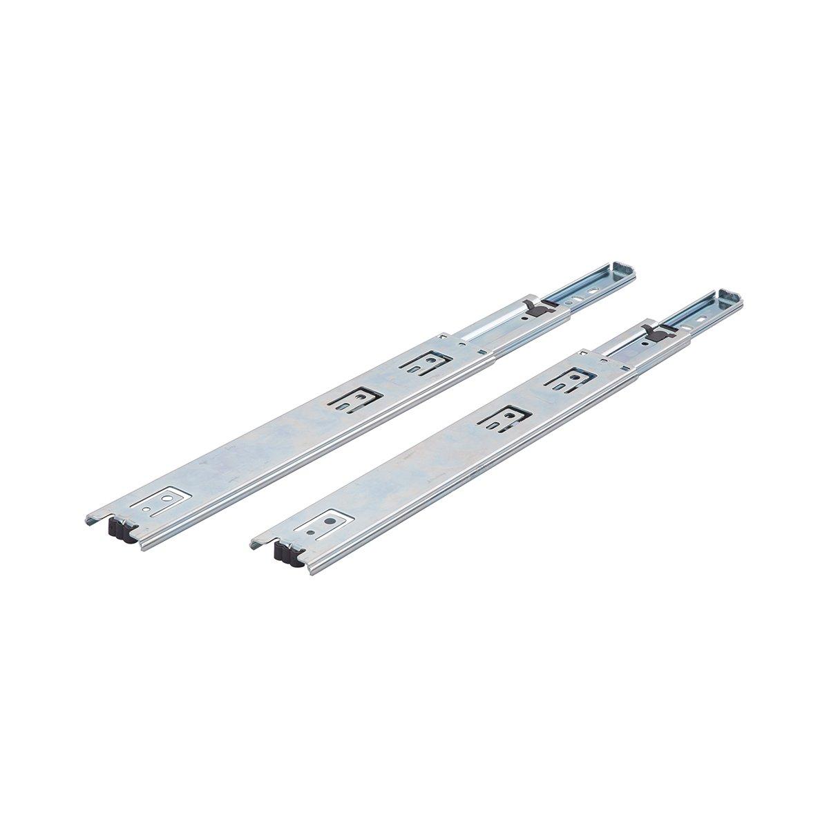 1-Pair 10 AB-5000 Nickel Plated-Steel 10 Basics Ball Bearing Drawer Slides
