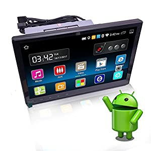 Yody 10.1 Inch Single Din Android 6.0 Car Stereo with Bluetooth WiFi GPS Navigation Mirror Link Adjustable Viewing Angle HD Capacitive Touch Screen AM/FM/RDS Car Radio Player Backup Camera,Microphone