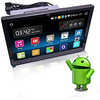 YODY 10.1 Inch Single Din Android 6.0 Car Stereo with Bluetooth WiFi GPS Navigation Mirror Link HD Capacitive Touch Screen AM/FM/RDS Car Radio Player Free ...