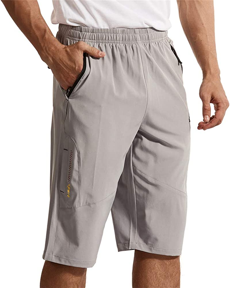 donhobo Herren Outdoor Sport Shorts Schnell Trocknend Kurze Hose 3//4 Caprihose Wandern Laufshorts mit Rei/ßverschlusstasch
