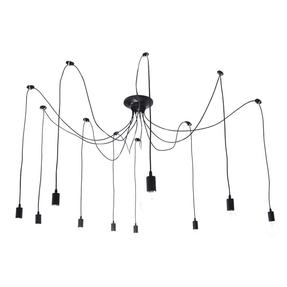 Awe Inspiring Lightess Spider Pendant Lighting 10 Heads Edison Chandelier Vintage Wiring Database Aboleterrageneticorg