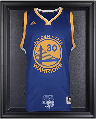 Golden State Warriors 2015 NBA Finals Champions Logo Black Framed Jersey Display Case - Fanatics Authentic Certified by Sports Memorabilia