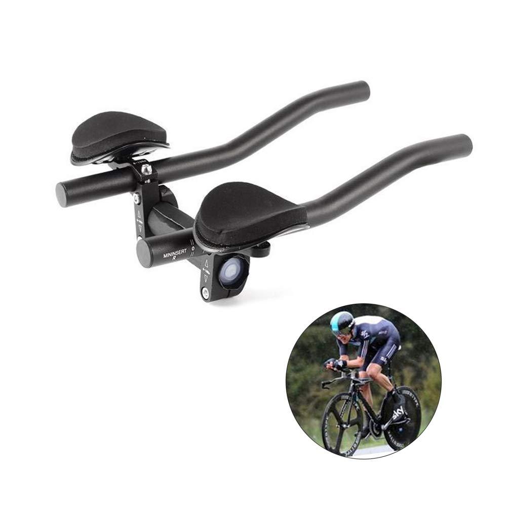 DSRong Bicycle Rest Handlebar Bike Aluminium Alloy Arm Rest Handlebar Triathlon Aero Bicycle Tri Bars Relaxlation Handlebars for Road Bike and Mountain Bike by DSRong (Image #1)
