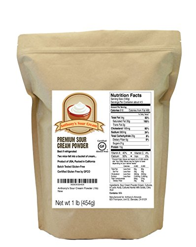 Sour Cream Powder (1lb) by Anthony's, Certified Gluten-Free