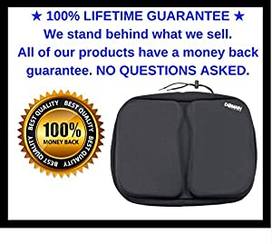 EXTRA Large Bike Seat Gel Exercise Cushion Cover, Stationary Recumbent Bicycle Rowing Machine - Domain Cycling