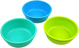 product image for Re-Play Made in USA 3pk 12 oz. Bowls in Lime Green, Aqua and Sky Blue | Made from Eco Friendly Heavyweight Recycled Milk Jugs and Polypropylene - Virtually Indestructible (Under The Sea)