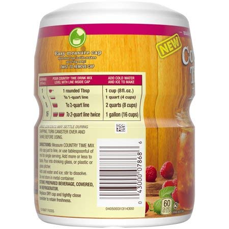 Country Time Raspberry Patch Iced Tea Drink Mix 19 oz. Canister