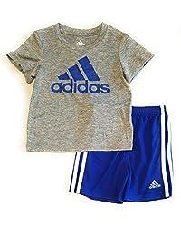 adidas - Conjunto de camiseta y pantalones cortos para niño (2 piezas)