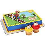"""Bakery Crafts - Curious George Train Cake Decorating Topper Kit, Train:4""""x3"""""""