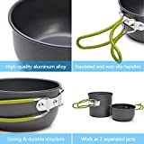 Odoland Camping Cookware Stove Carabiner Canister