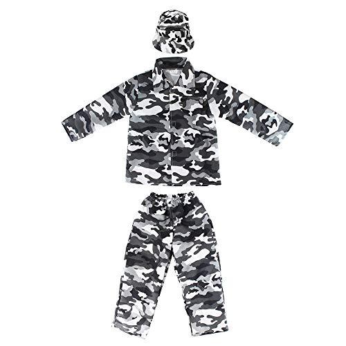 Jason Party Boys Army Costumes Camo Costumes for Kids (longsnow 7-9, longsnow)]()