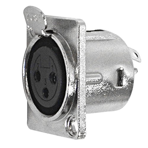 Seismic Audio SAPT239 XLR Female Nickel Plated Panel Mount Connector - Fits (Series Panel Mount Connectors)