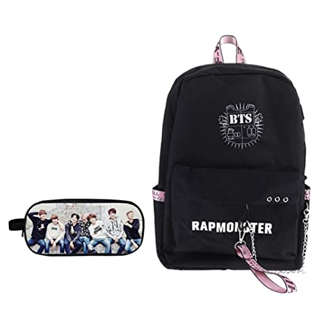 56367a27af9 Amazon.com: Quero Jom91 BTS Backpack, BTS Pencil Case, BTS Backpacks ...