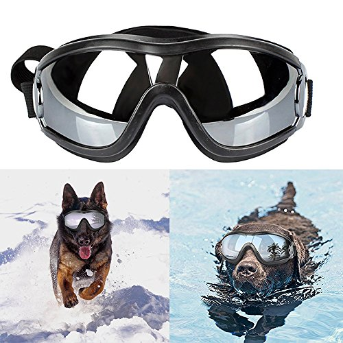 Anskp Stylish and Fun Pet Sunglasses Dog Puppy UV Goggles Sunglasses Waterproof Windproof with Adjustable Strap Protection Sun Glasses for Dog/Cat, for Dogs and Pet Lover by Anskp