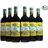 De La Rosa Real Foods & Vineyards - Kosher Organic Austrian Red Grape Juice (25.4 oz) Case of 6