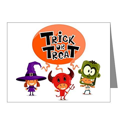 Greeting Card Halloween Trick or Treat Kids