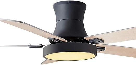 Dp-Light Madera Moderno 3 Aspas Ventilador De Techo con Luz, Mando ...