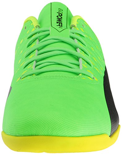 Puma Mens evoPOWER Vigor 4 IT Soccer Shoe, Green Gecko Black-Safety Yellow, 8.5 M US