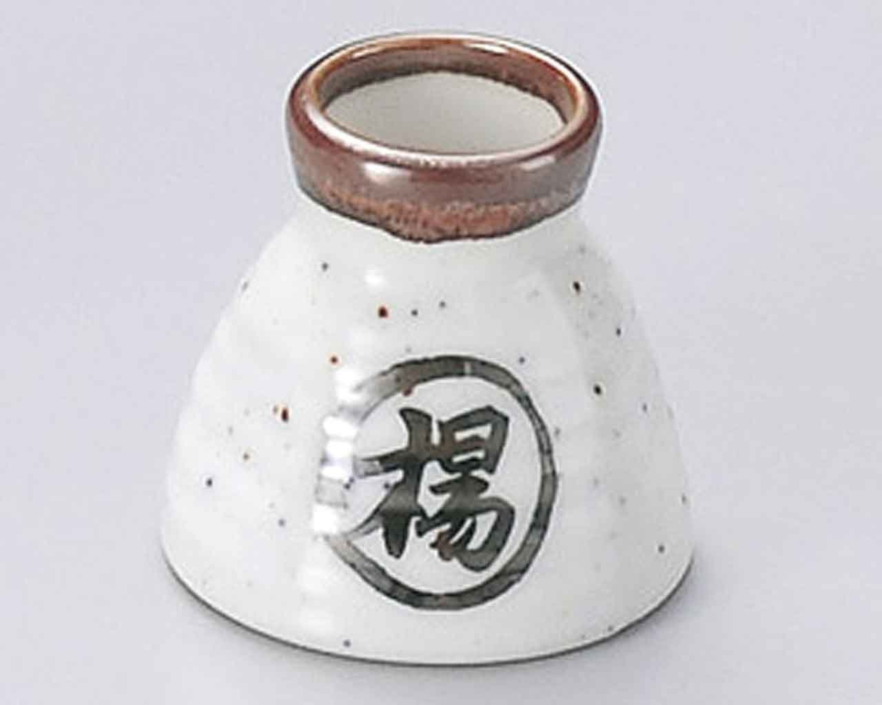 Nashiji Rokube Shoyu 2.2inch Set of 10 Toothpick holders Grey porcelain Made in Japan