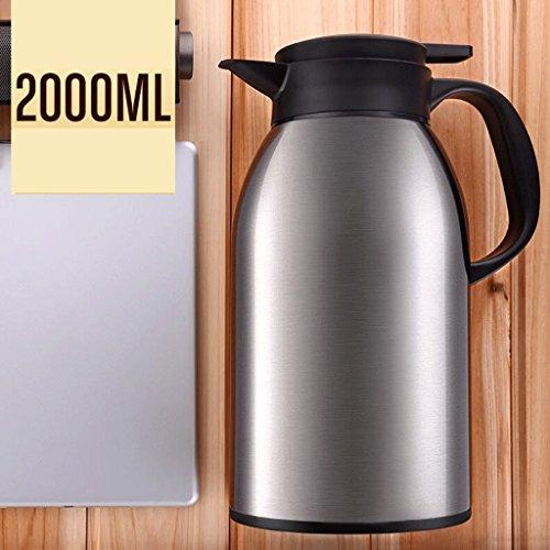 Accueil 304 en acier inoxydable d'eau chaude de conservation de la chaleur de conservation de la chaleur de haute capacité Pots isolants Restaurant de cuisine Chambre Warm Pot Kettle 2.2L ( Couleur : Silver )