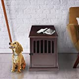 Casual Home 600-44 End Table, 24-Inch Pet Crate 20' W x 27.5' D x H, Espresso