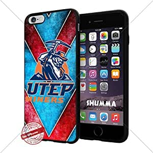 """NCAA UTEP Miners Cool iPhone 6 Plus (6+ , 5.5"""") Smartphone Case Cover Collector iphone TPU Rubber Case Black"""