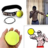 SaveStore Fight Ball Boxing Reflex Reaction Speed Training Boxing Punch Combat Muscle Lomachenko Red and Yellow Thai Trainer Boxeo Saco