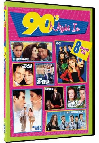 90s Night In - 8-Movie Set - Threesome - Wilder Napalm - Go! - The Velocity of Gary - Hexed - Jersey Girl - The Mating Habits of the Earthbound - Collection Outlet The Gardens Jersey