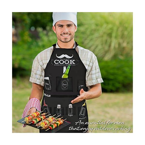 The Man Grembiule, qualità Premium - Grembiuli da Barbecue, con Tasche per i Condimenti Necessari per Quel Barbecue… 3 spesavip