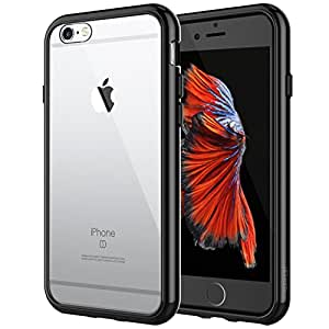 JETech Case for Apple iPhone 6 Plus and iPhone 6s Plus, Shock-Absorption Bumper Cover, Anti-Scratch Clear Back (Black)