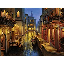 Ravensburger Waters of Venice 1500 Piece Jigsaw Puzzle for Adults - Softclick Technology Means Pieces Fit Together Perfectly