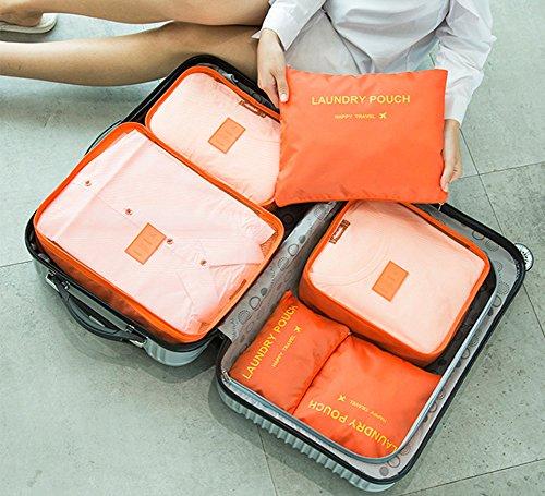 Organisateur Bagage Emballage TININNA Rangement de Organisateur Blue fonctionnel Ensemble Espace Cubes Vêtements Valise Des Poche Clair Multi Or Bagage Sacs Voyage 6 Accessoires xxS7qwAO