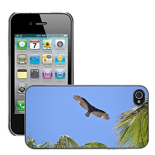 Bild Hart Handy Schwarz Schutz Case Cover Schale Etui // M00133755 Vogel Sky Blue Ave // Apple iPhone 4 4S 4G