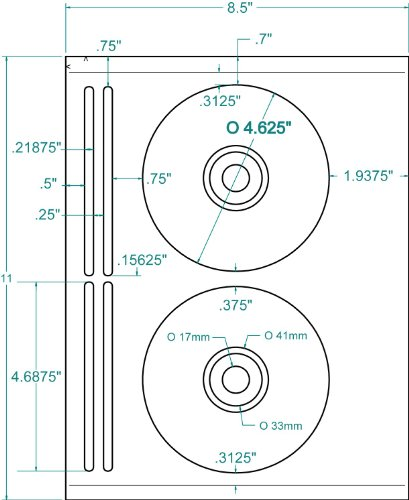 Amazon 40 Compulabel 312660 Dvd Cd Cdr Labels 20 Sheets