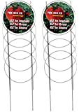 Dasco Pro TC-4 The Big EZ Heavy Duty Folding Tomato Cage and Plant Support, 2 Pack, White