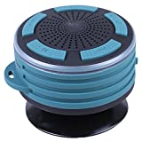 SODIAL Wireless Waterpoof Bluetooth Speaker Shower Radios with Light,Small Portable Speaker for Bathroom,Outdoor,Car,Beach,Pool (Green)