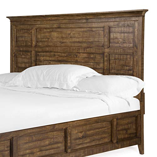 Overstock Bay Creek Relaxed Traditional Toasted Nutmeg Queen Panel Bed Headboard Queen