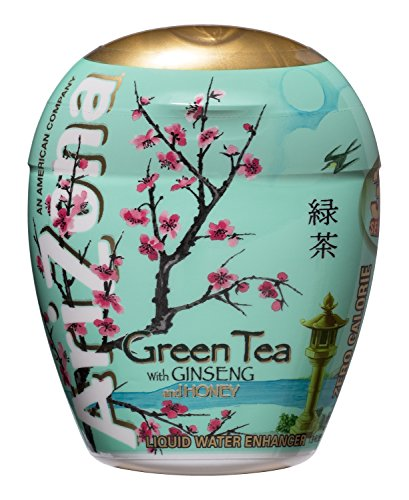 AriZona Green Tea with Honey and Ginseng Liquid Water Enhancer LWE (Pack of 10), Low Calorie Single Serving, Liquid Drink Mix, Just Add Water for Deliciously Refreshing Iced Tea Drink Lee (Tea Refreshing)