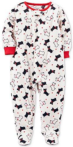 Carter's Girls 1-Piece Scotty Dog Fleece Pajamas (4) ()