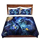 DiaNoche Designs Mark Watts Symphony of Space Brushed Twill Home Decor Bedding Cover, 7 Queen Duvet Sham Set
