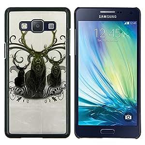 EJOOY---Cubierta de la caja de protección para la piel dura ** Samsung Galaxy A5 A5000 ** --Ciervo Antlers Majestic Animal del Norte