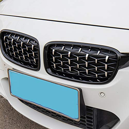 New Mesh Front Kidney Grill Compatible For BMW 3 Series F30 F31 320i 328i 330i 335i 2012-2018 Chrome Black Diamond Grilles 2pcs Set