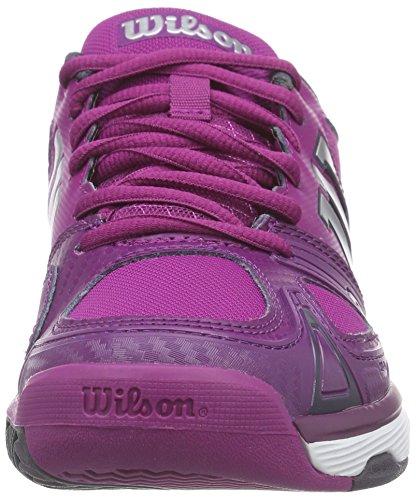 WilsonRUSH EVO W - Zapatillas de Tenis Mujer Rosa (Azalee Pink / Dark Plumberry / Coal Wil)