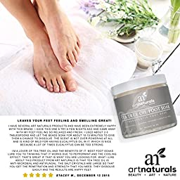 ArtNaturals Tea Tree Foot Soak Salt with Epsom Salt, Fights Athletes Foot and Nail Fungus, Helps to Soften Calluses, 20 oz.