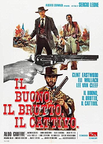 XXL Poster The Good Bad And The Ugly Italian Poster 24 X 36