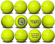 Custom Printed Tennis Ball Golf Balls 12 Pack Upload Your Logo or Text