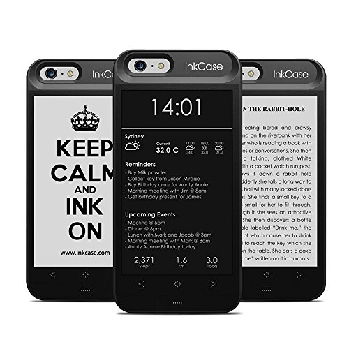 "Oaxis Inkcase i6, 4.3"" E-Ink eReader for iPhone 6 / 6S, Smart Bluetooth Protective Back Case with Second Display, eBook / News / Pocket / Note (For iPhone 6 / 6S)"