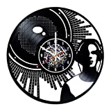Cheap DJ Silhouette Design Wall Clock Made from Used Vinyl Record – Get Unique Living Room Wall Decor – Gift Ideas for his or her – Unique Music Fan Art