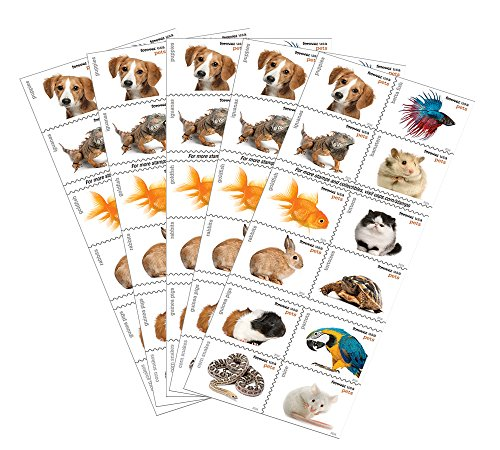 Hot 20 Forever USPS stamps Pets celebrate animals in our lives that bring joy, companionship, and love (5 sheets of 20 stamps) supplier